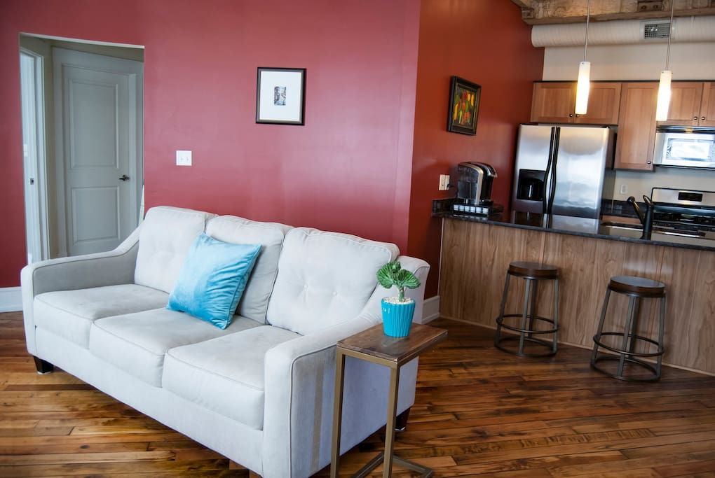 Living room offers comfortable seating for relaxing