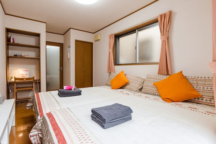 HOYO東京Nezu#102/3min from Subway sta. +Pocket Wifi
