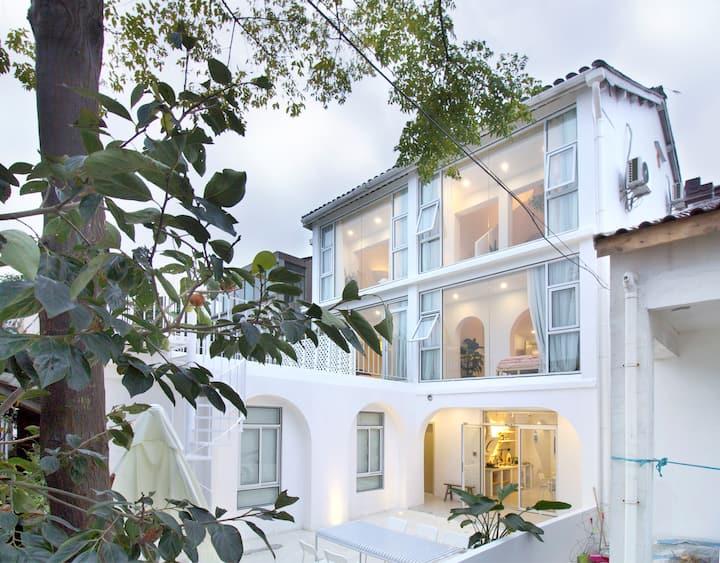 米造南瓜屋204-上海迪士尼 亲子&纯白&田园 年轻设计 -「 免费早餐&迪士尼接送」