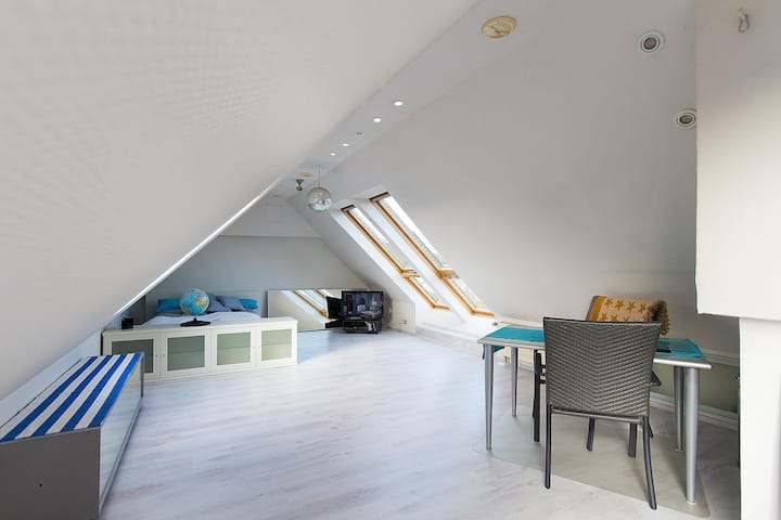 Attic apartment with view on Dom