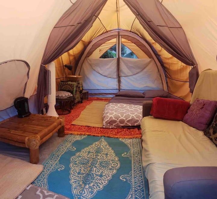 Camping near beaches.