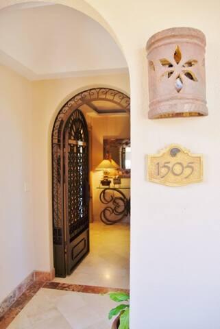 Entrance to the private villa