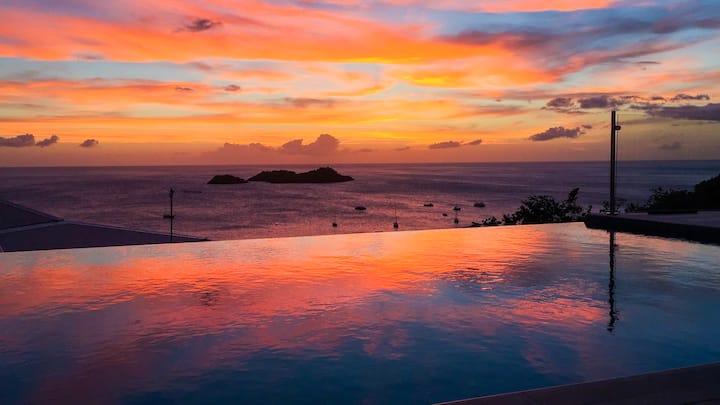 Superbe villa de standing 3ch  + coucher de soleil