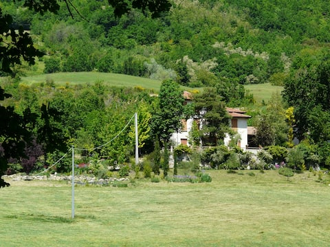 A terrace on the valley of the river Ceno