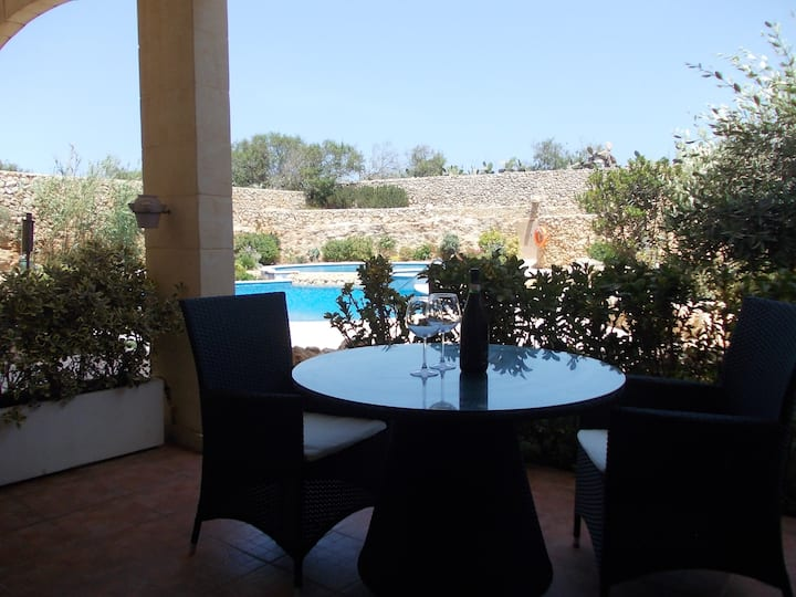 Two bedroom apartment with large communal pool