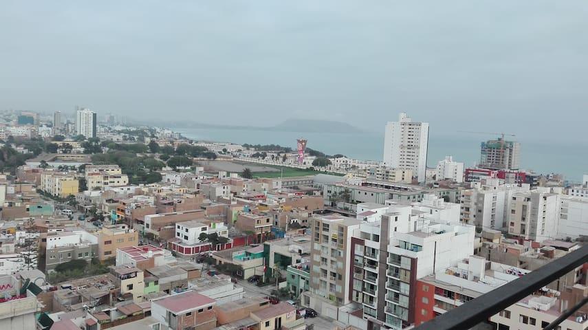 Habitación privada con vista al Pacífico - Distrito de Lima - Wohnung