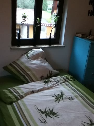 Quiet farm village close to train. - Niedermohr - Appartement
