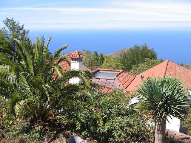 Jardin y Casa La Verada, Pool und subtrop. Garten