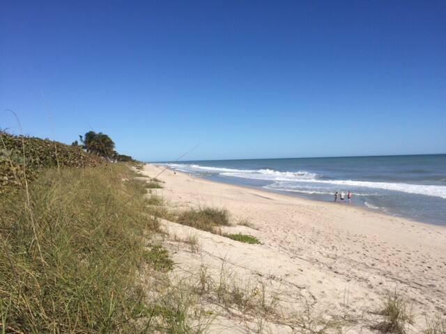 Private beach setting