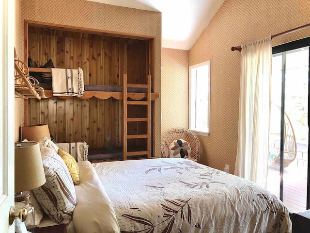Guest Room with Private Deck & Custom Bunks