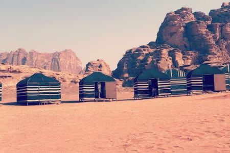 Bedouin tent with 2 beds in Desert Bird Camp