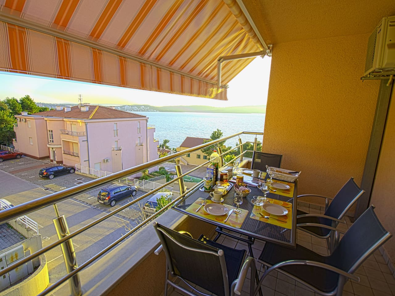 Balcony view in apartment mala in Trogir