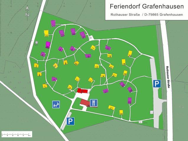 Ferien- & Freizeitpark Grafenhausen, (Grafenhausen), Komforthaus 3, 50qm,  3 Schlafzimmer, max. 6 Personen