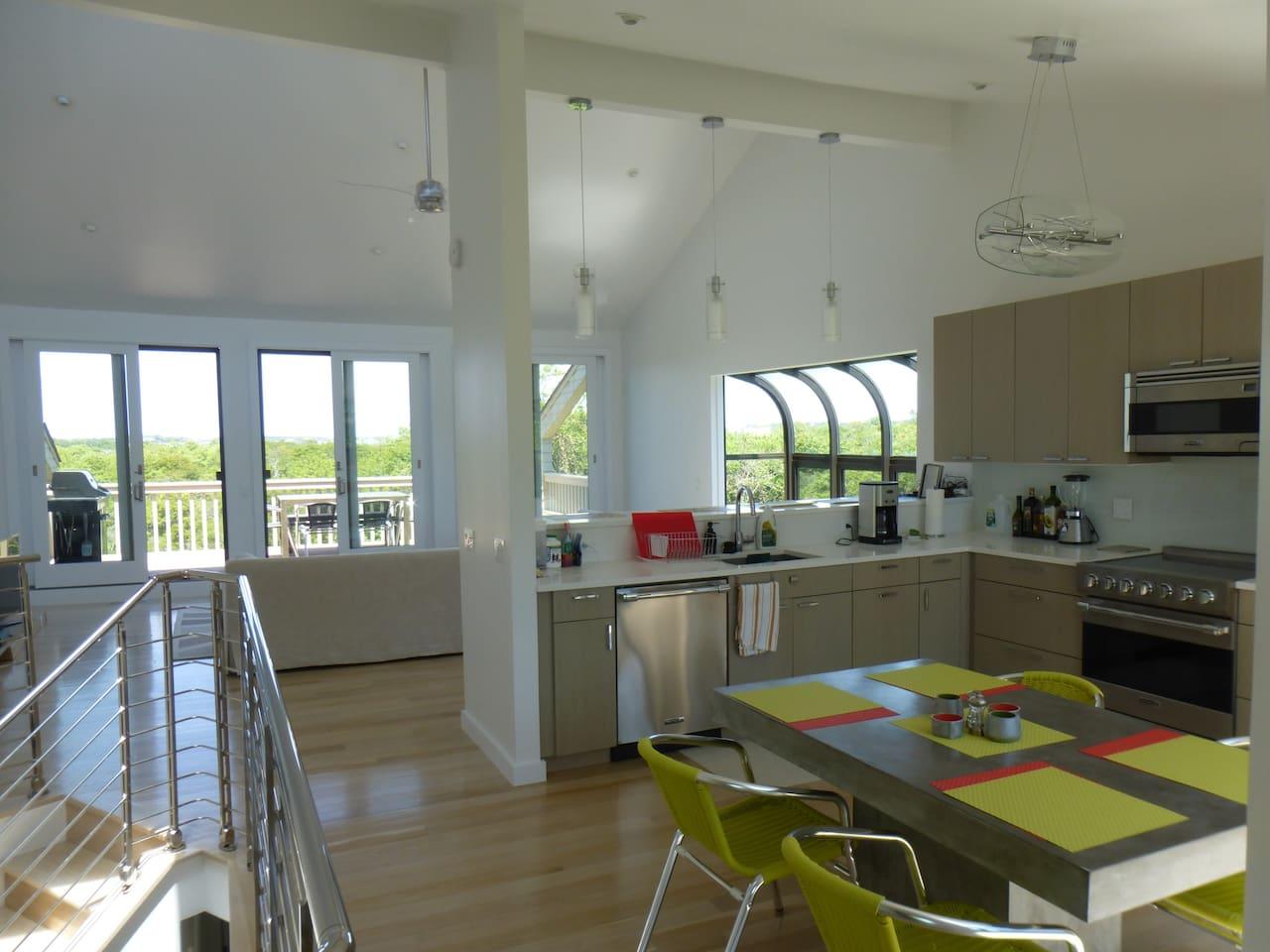 Upstairs - Modern Open Kitchen