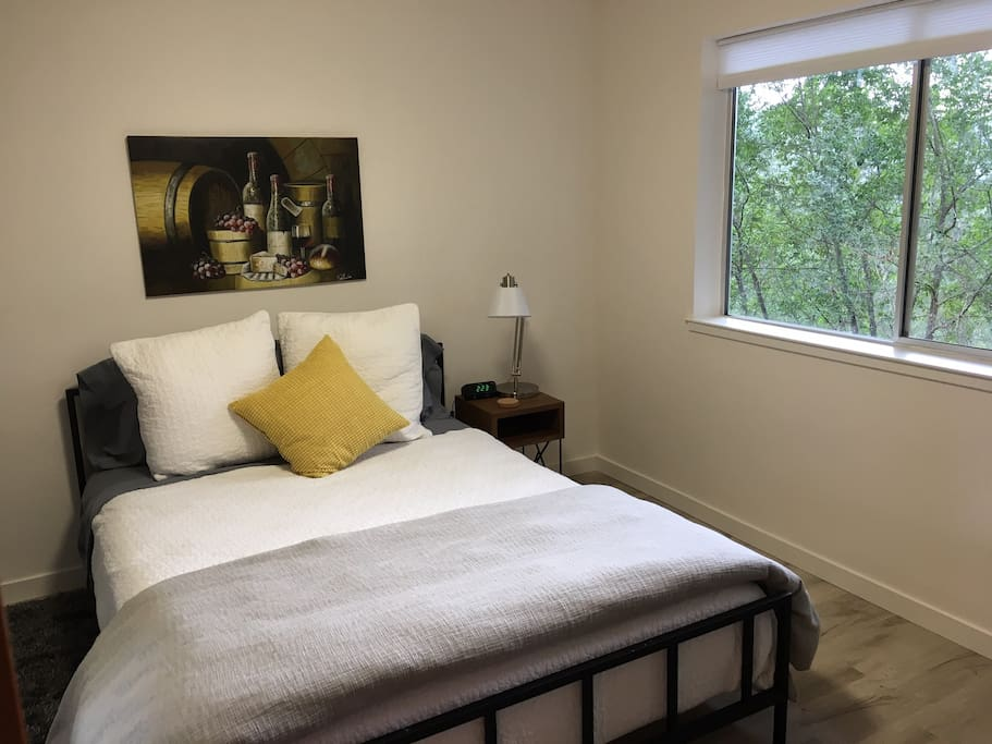 A little piece of paradise with views of the redwoods and valley from the window.