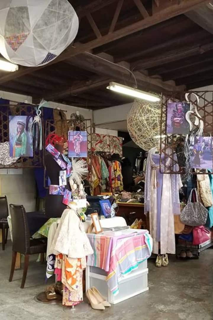 Antique Kimono shop.