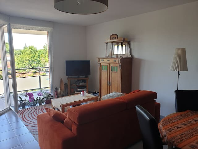 Grand appartement cosy, face au golf de Seilh