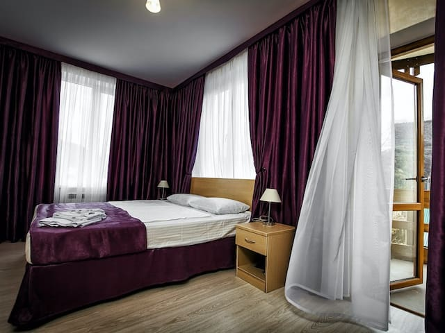 Double Delux room with a mountain view. Elpida, boutique hotel