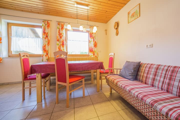 Cosy and rurally located apartment with garden and terrace