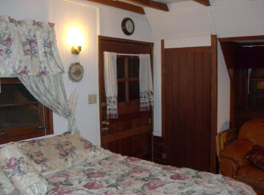 King Bedroom in the 3 bedroom main cabin