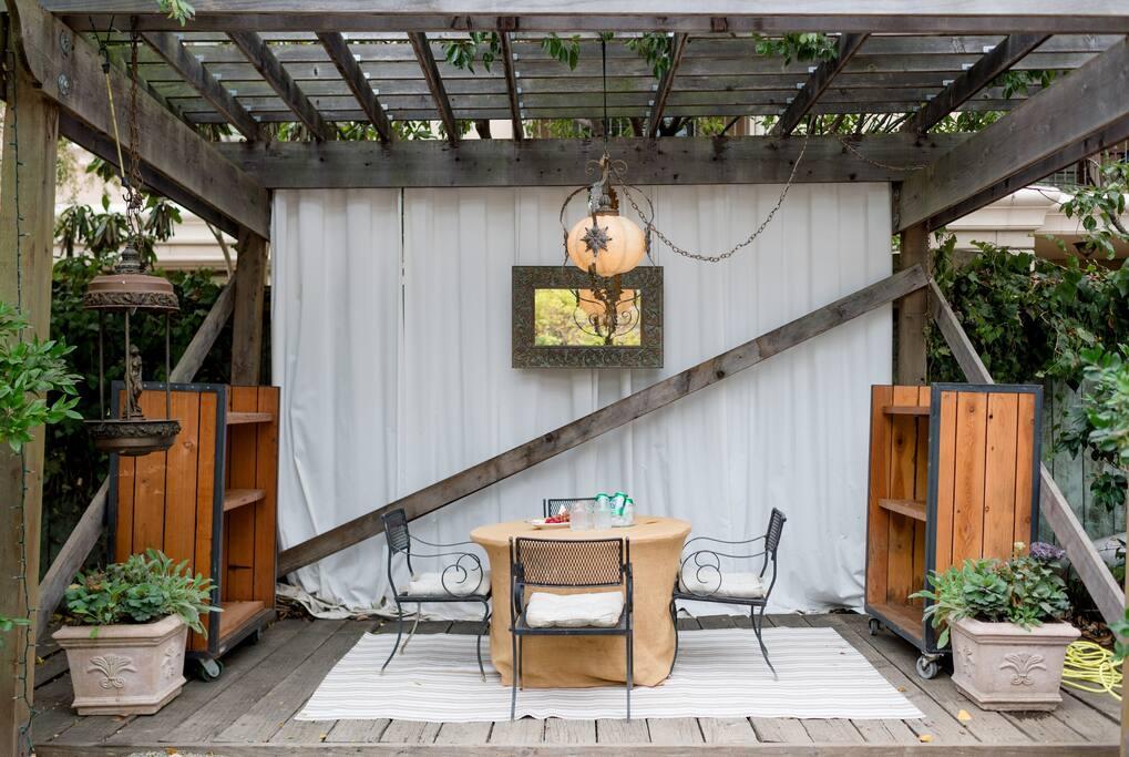 Enjoy the portico (weather permitting)