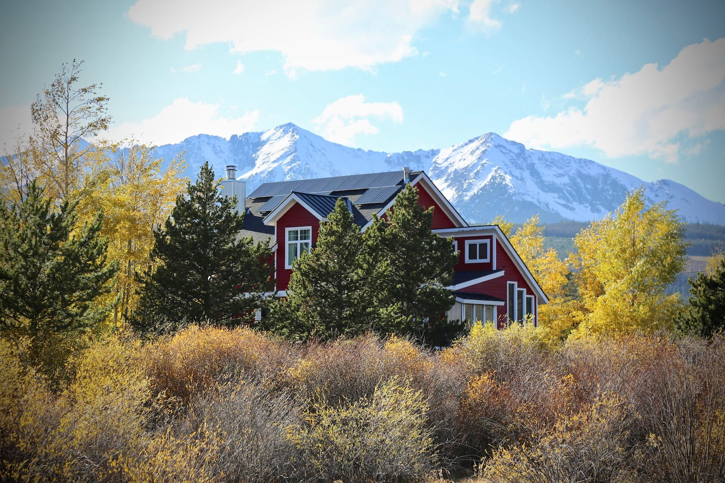 Our Red Barn in the mountains.