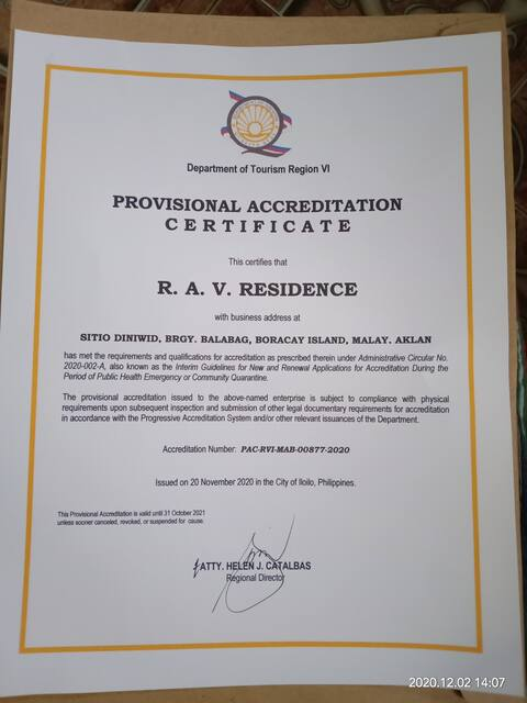 R.A.V. Residence Rm1, studio type apartment.Stn.1