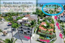 Beach 2 minutes walking distance