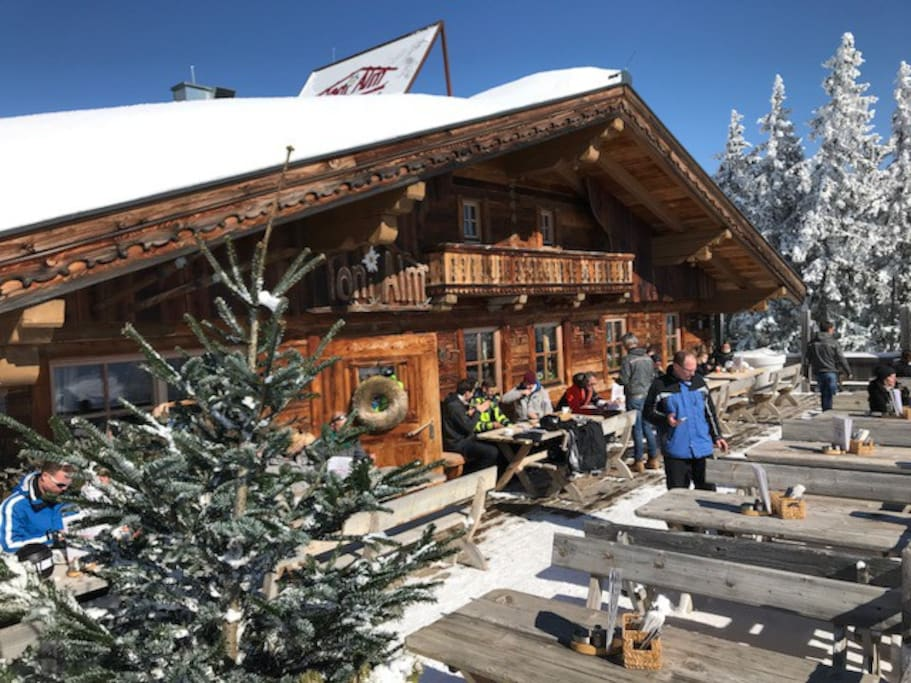 "urige Hütte an der Abfahrt Hollersbach ""Toni´s Hütte"""