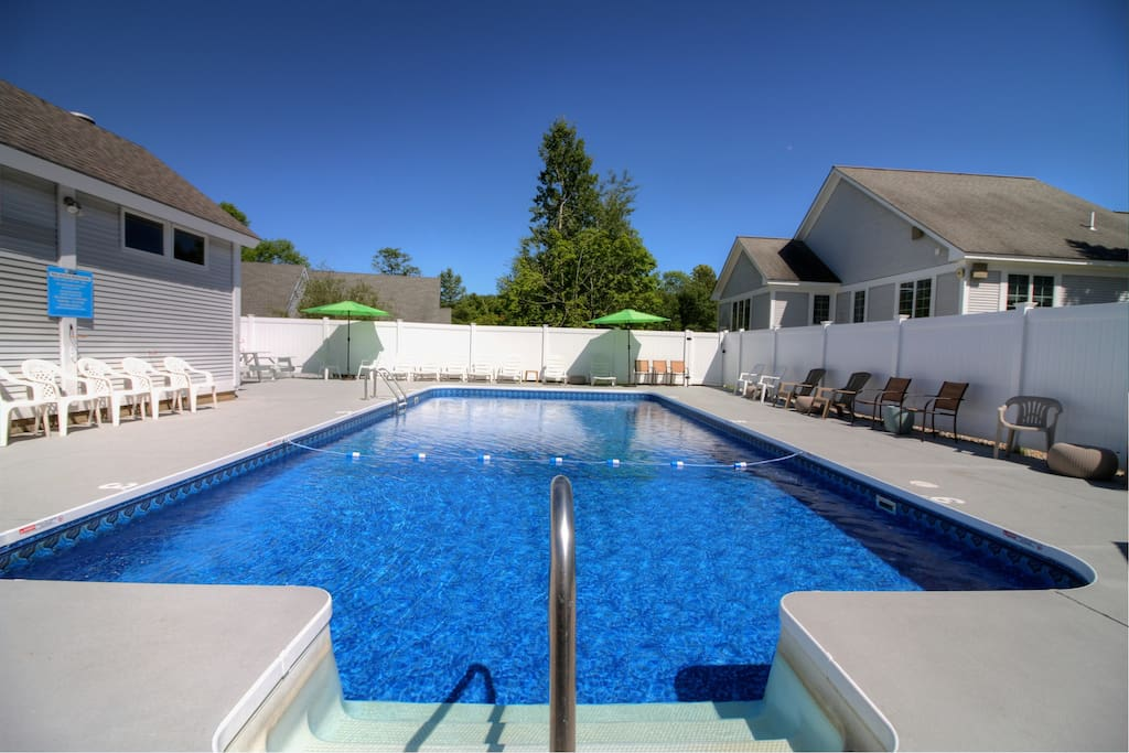 Take a dip in our communal heated pool! (Open June to mid-September.)