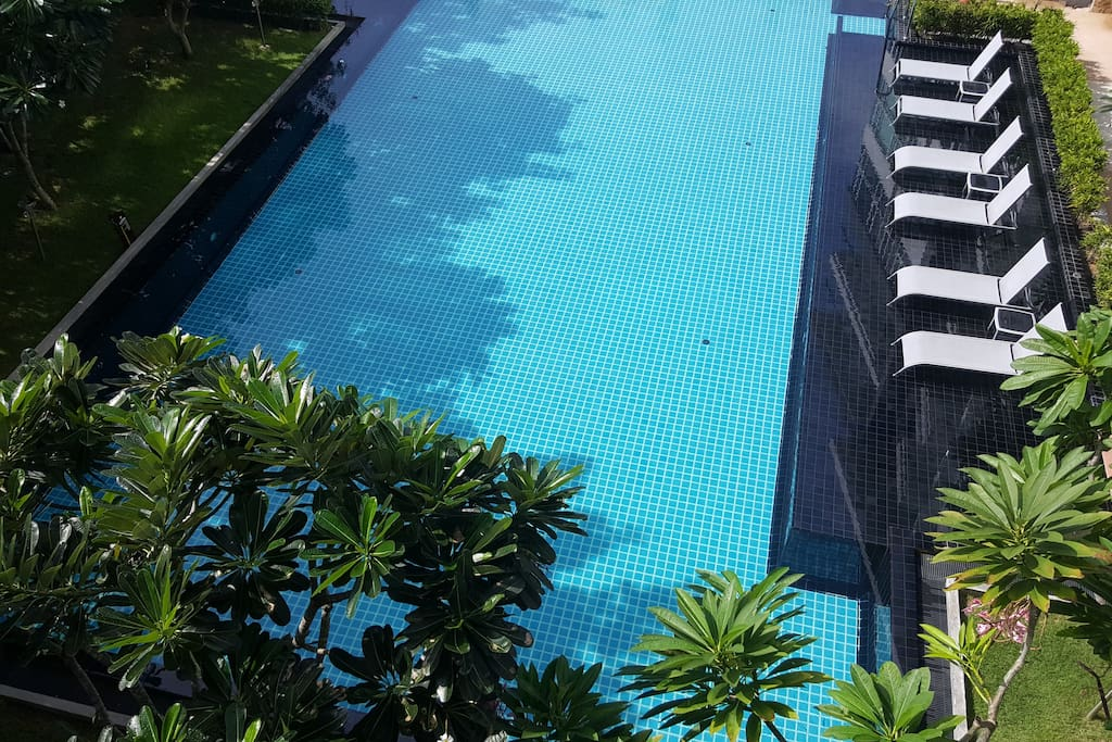 Your pool as viewed from your balcony