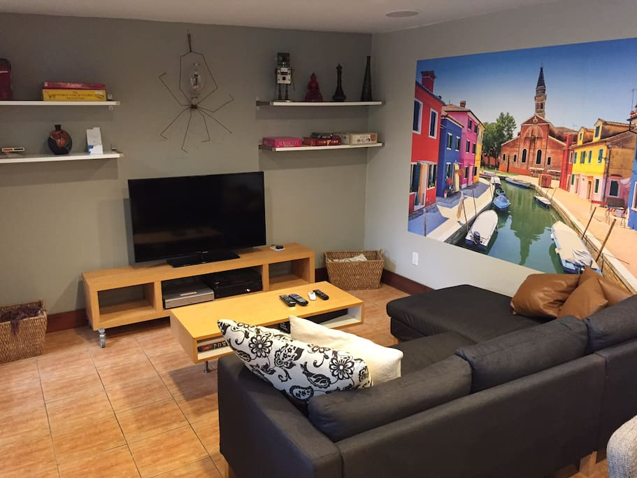 Closer view of the sitting area. Dish Network, Netflix, and plenty of games available to help make your stay enjoyable.