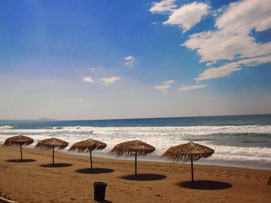 la plage de Tholo fin octobre