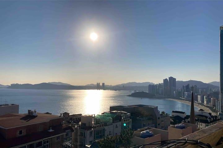 Busan Heaundae🐤🐤☺🍖🍖#해운대 #바다