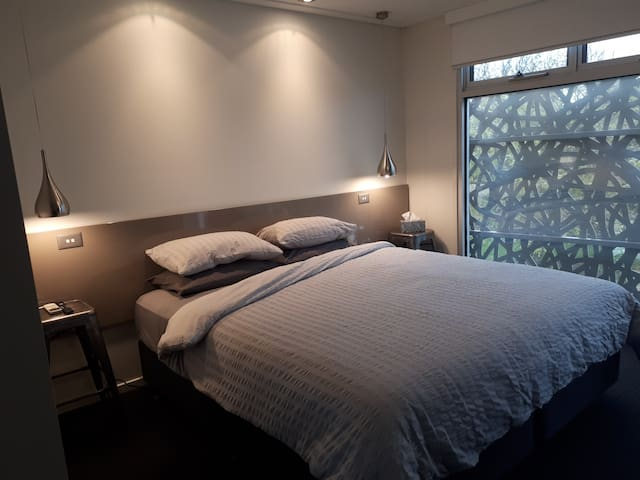 Luxe - King Sized Pillowtop Bed. Sidelights and Overhead LED Reading Lights