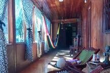 Porche entrada cabaña