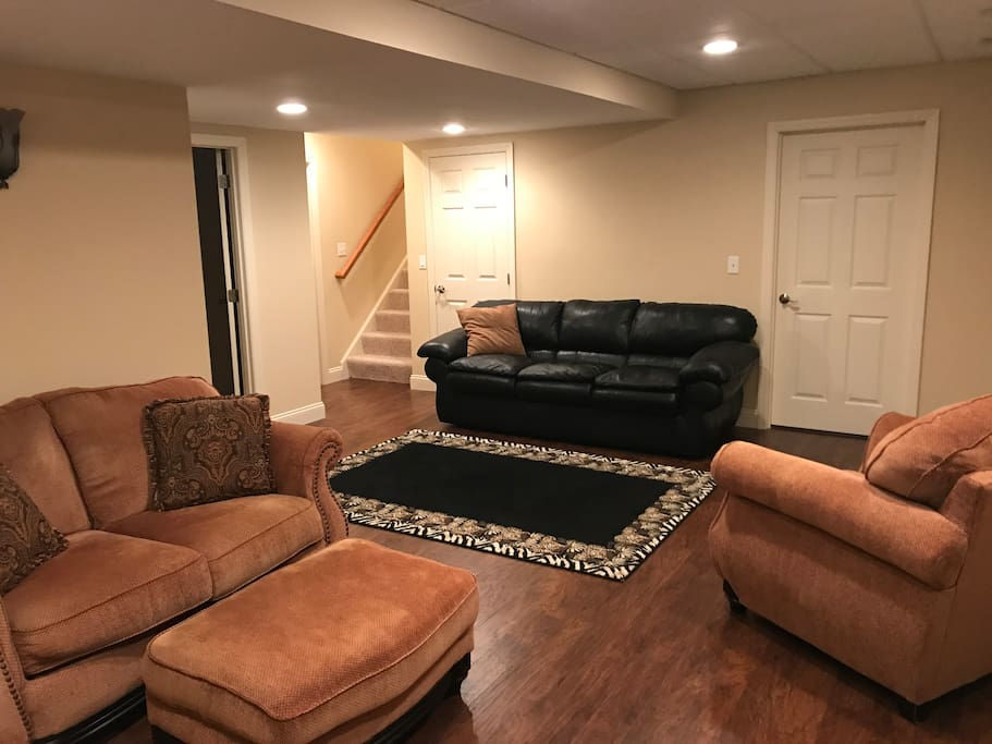 Large Living room to relax an read a book or lounge an watch TV... equipped kitchen... bedroom... bath... private entrance