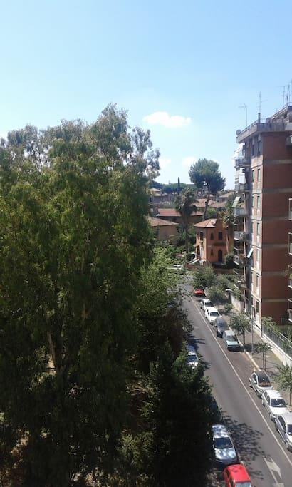 Vista dall'appartamento