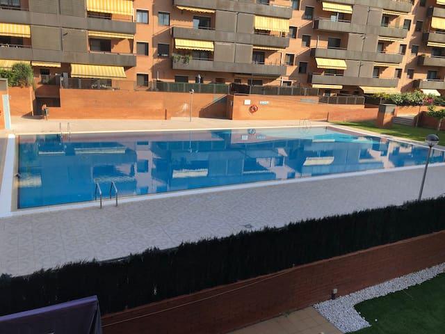 Gran piso cerca de Barcelona, bien comunicado