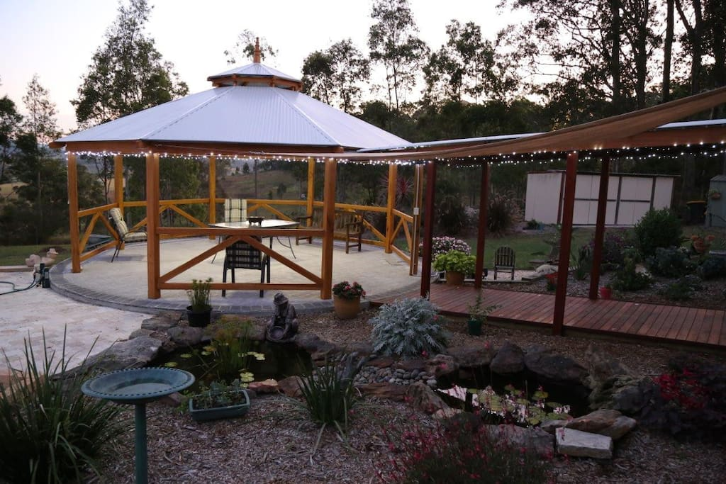 The pergola for relaxing