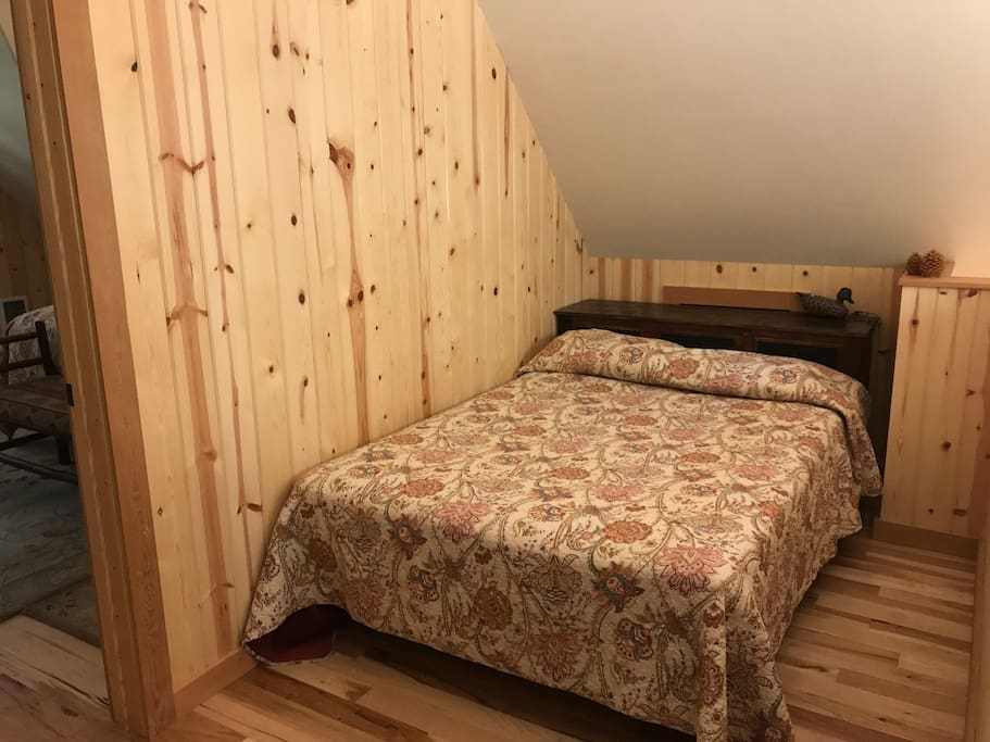 Upstairs loft with Double bed