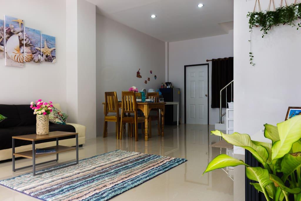 1-st floor: Living room + Dining room & Kitchen Area