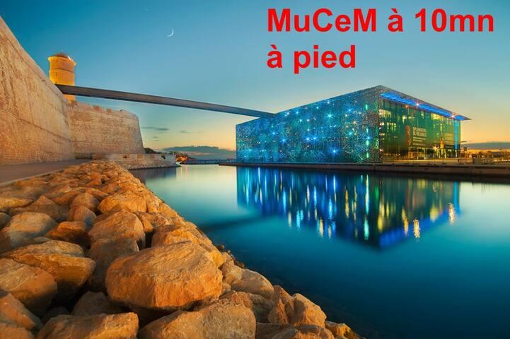 ❤️T2 Coeur Marseille Vieux-Port / MuCem (6 pers)❤️