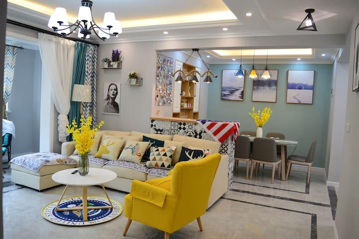 北欧现代结合装饰的家,舒适的卧室,回归大自然的客厅,休闲住宿的好去处