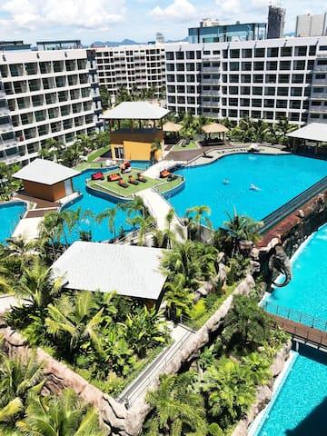芭堤雅最大水系景观公寓 拉古娜三期 马尔代夫公寓 超美泳池景观