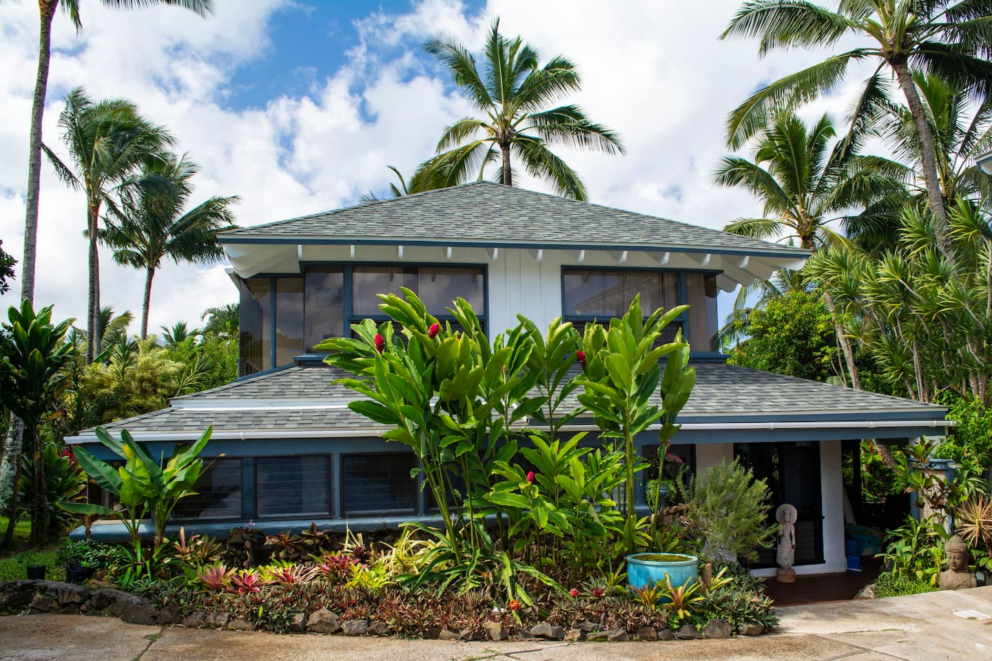 The beautiful Hale Hokule'a - main house for vacation rental on property.