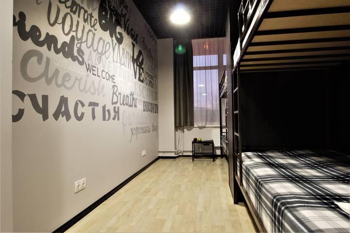 Хостел ТЕЛЕГРАФЪ место в 4-местном женском номере