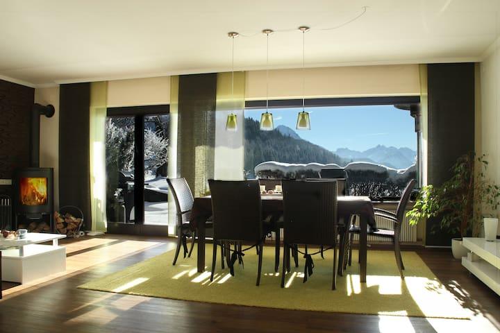 CASA ALPINESSA mit Bergpanoramablick vom Esstisch! - Sonthofen - Huis
