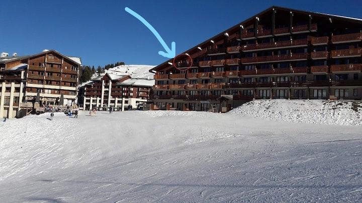 Plagne Soleil : cozy appart 4/5P snowfront
