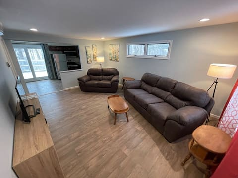 One bedroom, newly renovated clean and quiet .